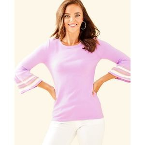 Lilly Pulitzer Callee Lilac Freesia Sweater NWT